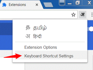 google input tools keyboard shortcut settings
